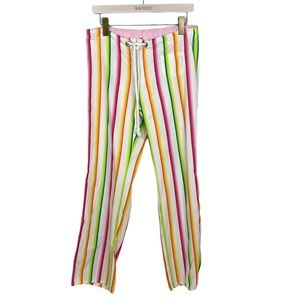 PINK Victoria's Secret Rainbow Striped Pajama Pant